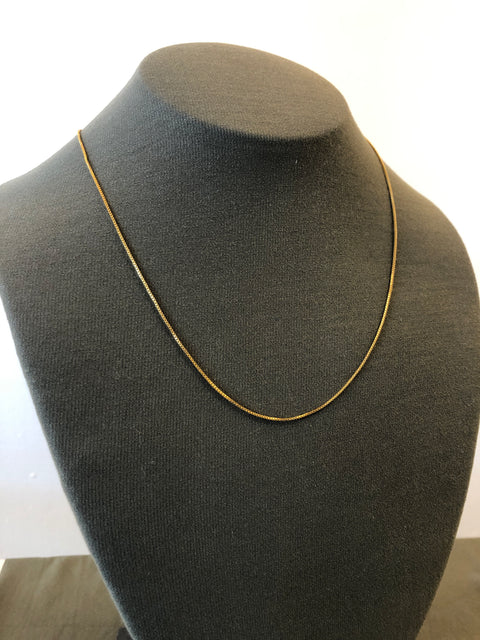 Box Chain | Necklace | Gold Fill | 2 + 1