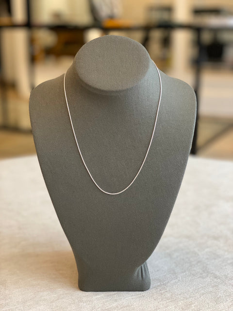 Skinny Wheat Necklace Sterling Silver 2+1