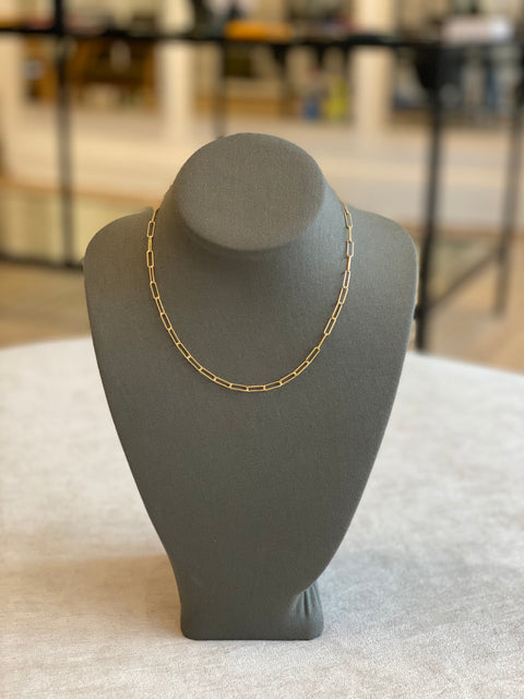 Disco Necklace Silver Dipped 14K Gold