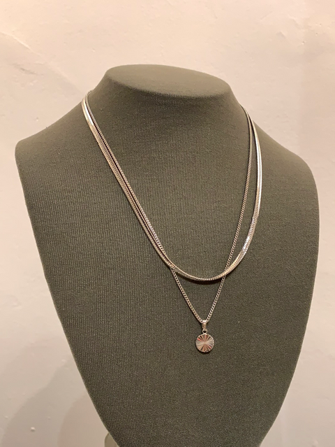 Julia Necklace | Rhodium Dipped