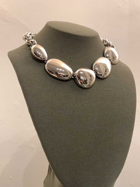 Galina Collar | Rhodium  Dipped