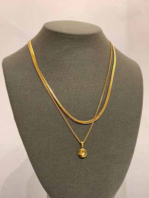 Plaza Necklace | 14K Gold Dipped