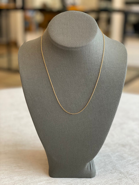 Rolo Necklace Gold Filled 2+1