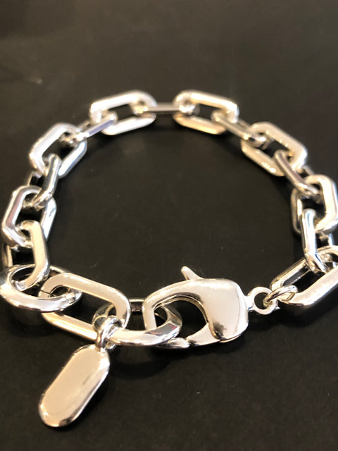 Toni Bracelet | Small | Rhodium Dipped