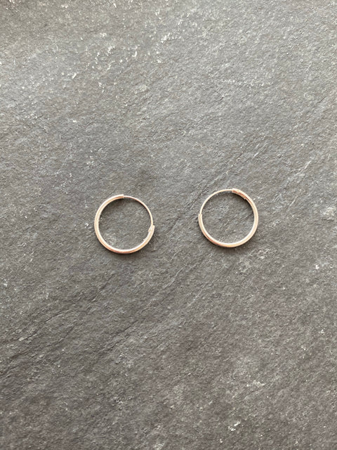 Sleeper Hoops Silver 16mm