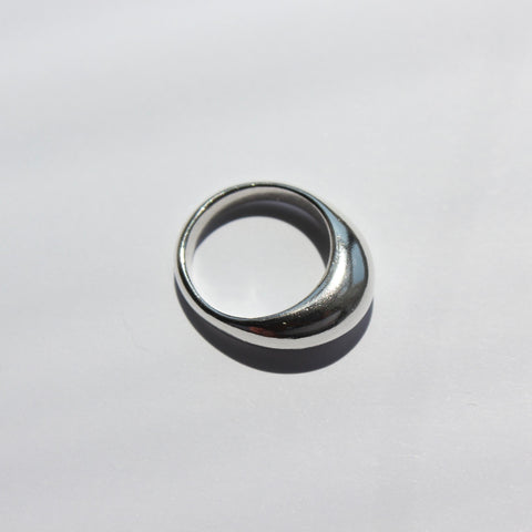 Half Moon Ring Sterling Silver
