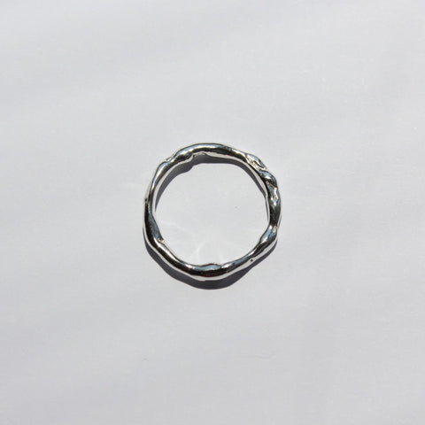 Molten Stacker Sterling Silver