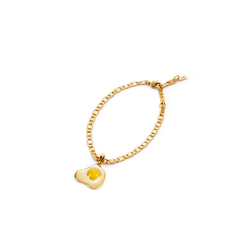 Crack Me Up | Charm and Bracelet | 14K Gold Dipped