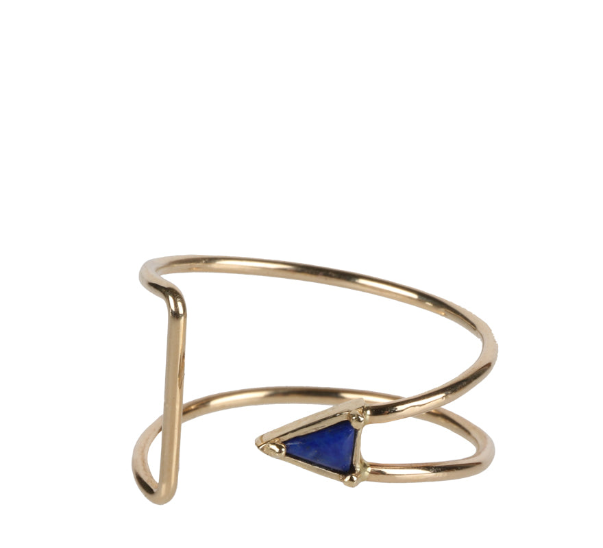 Curved Triangle Ring, Lapis