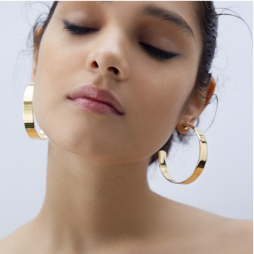 Large Liberty Hoops, Gold