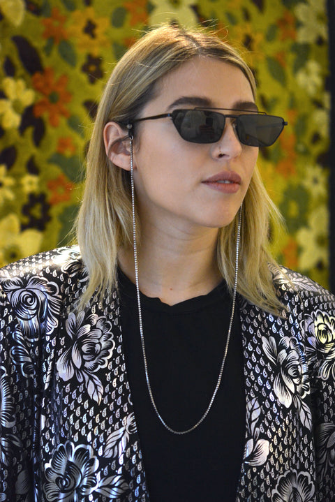 Cannes Sunglass Chain Silver