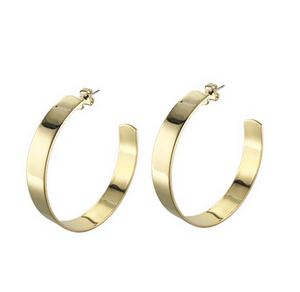 Large Liberty Hoops Gold