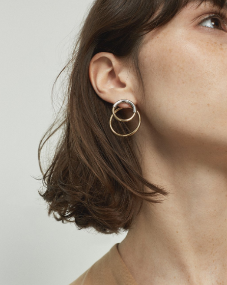Ossie Ear Jackets | Two-Tone | 14k Gold Dipped