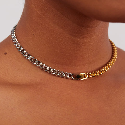 2Tone Curb Convert Bracelet/Necklace