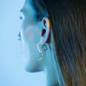 Backslide Earrings, Gold