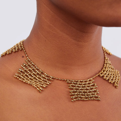 Ball Chain Bib Gold