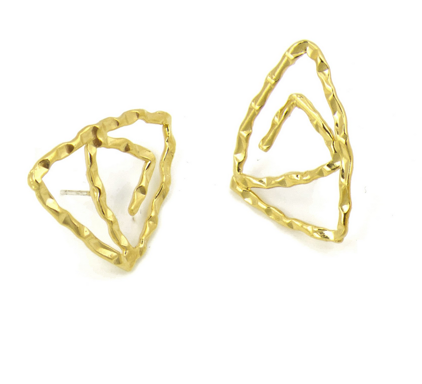 Patera B Earrings, Gold