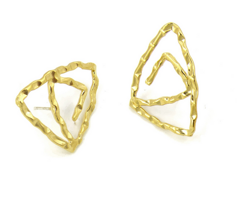 Patera B Earrings Gold