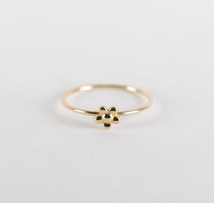 Mini Flower Ring 10K