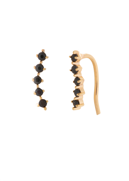 Lady Ear Climbers Gold Onyx