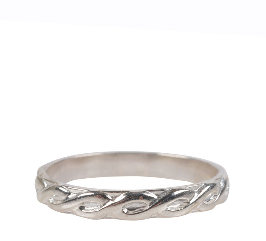 Fresh Tangerine-Braided Stacking Ring, Silver-Jewelry-6-ZANE-Toronto-Canada