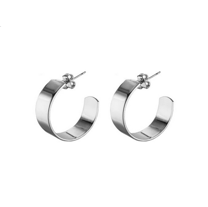 Small Liberty Hoops Silver