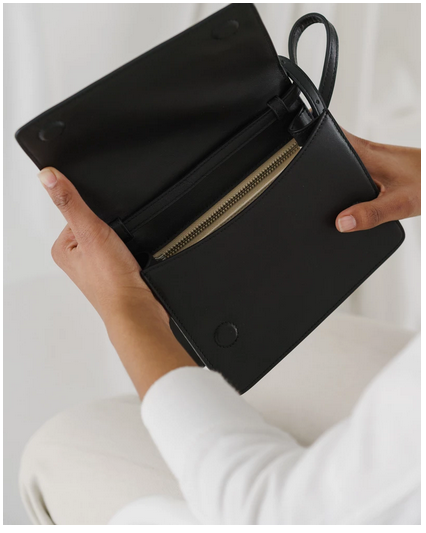 Small Structured Crossbody Black