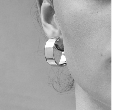 Small Liberty Hoops, Silver