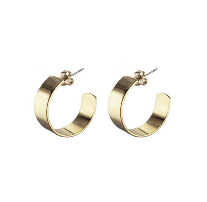 Small Liberty Hoops, Gold