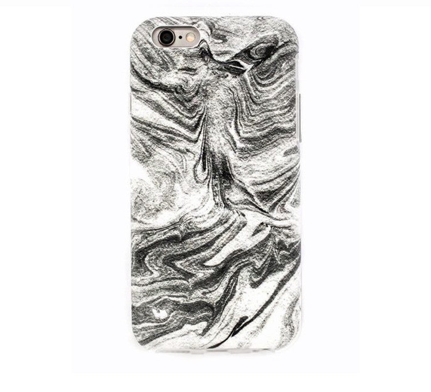White Smoke Marble iPhone Case-Tech-Felony Case-6-ZANE