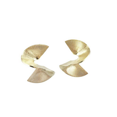 Mini Solarwave Studs, Gold