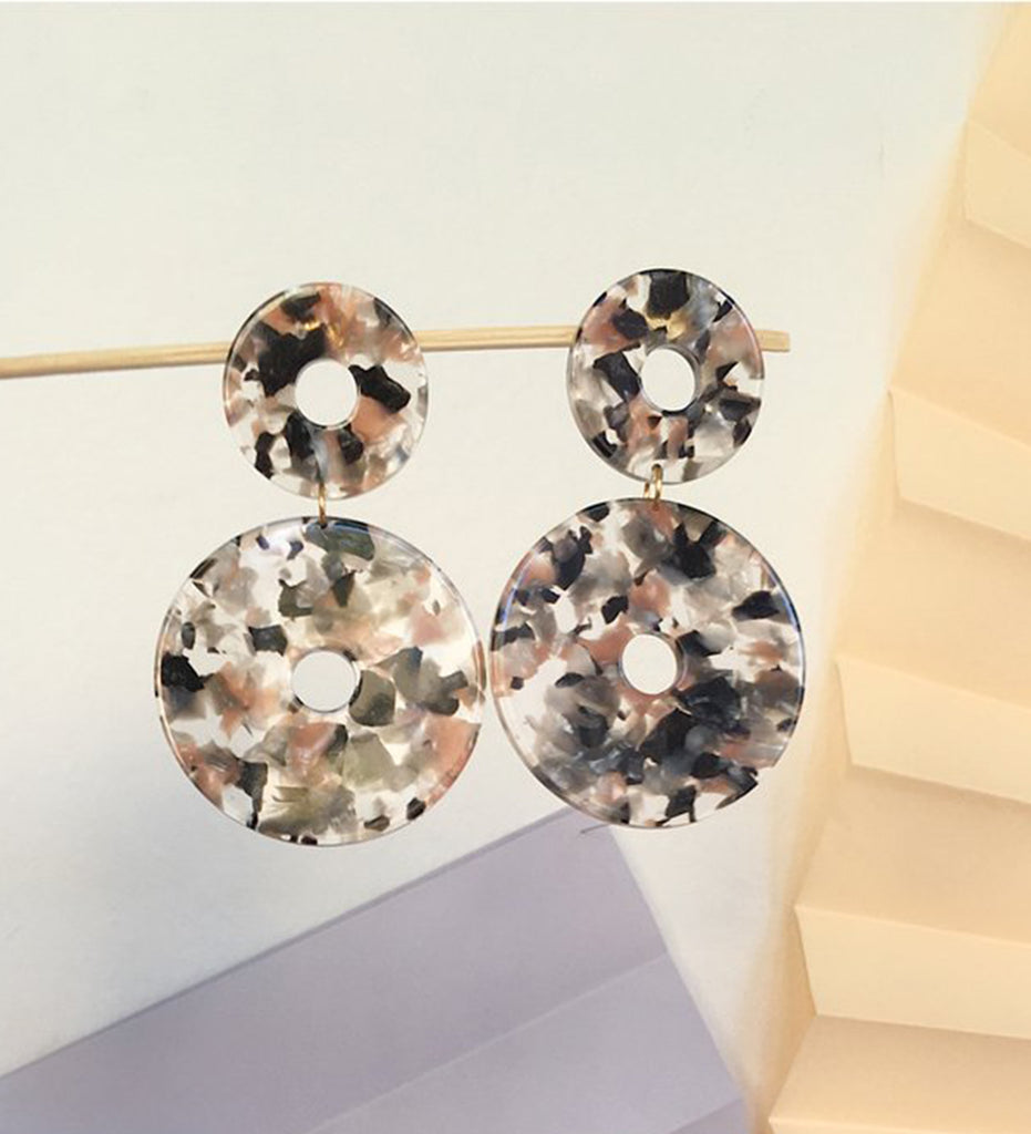 Scabiosa Earrings, Terrazo