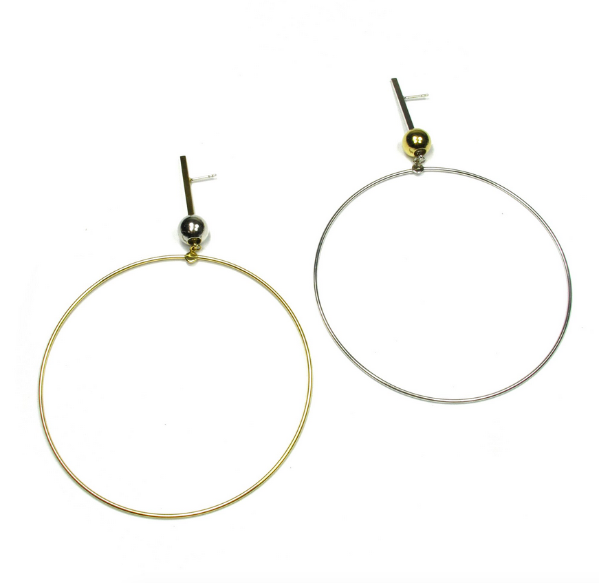 Trapped Hoops, Silver