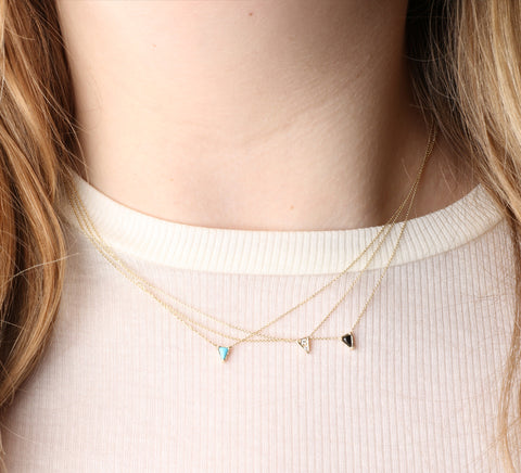 Triangle Necklace, Turquoise