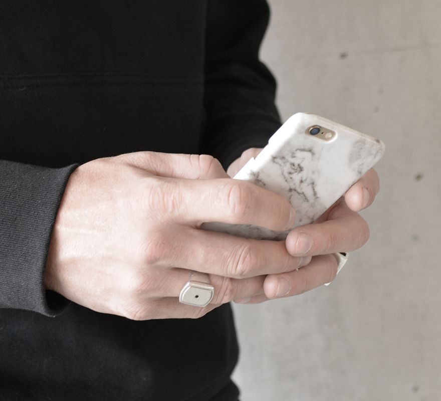 Felony Case-White Polished Marble-Tech--ZANE-Toronto-Canada