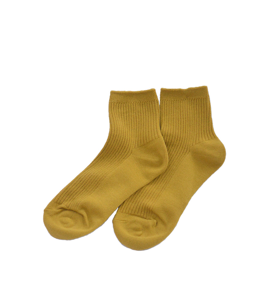 Ribbed Socks, Yellow