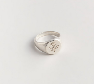 Rose Signet Silver 7