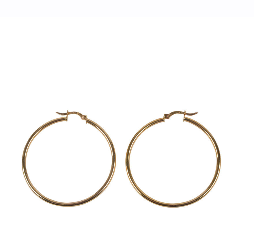 Hoop 35mm, Gold-Jewelry-ZANE-35mm-ZANE