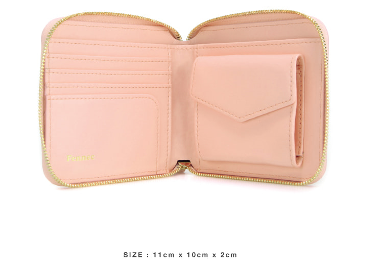 Zipper Wallet Pink