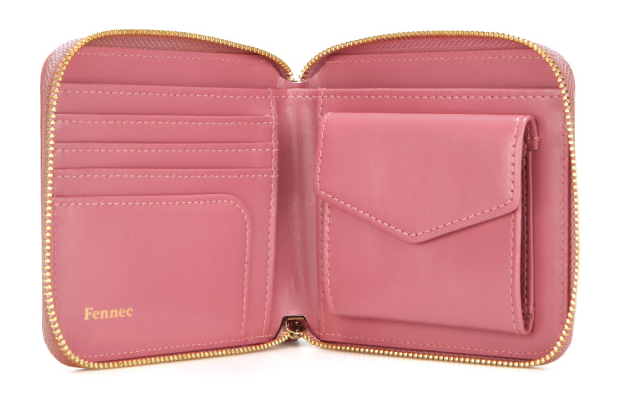 Zipper Wallet Rose Pink