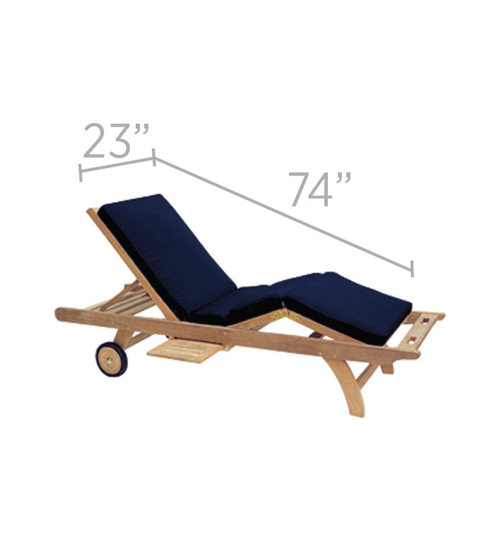 Royal Teak Sunbed Chaise Lounge Cushions