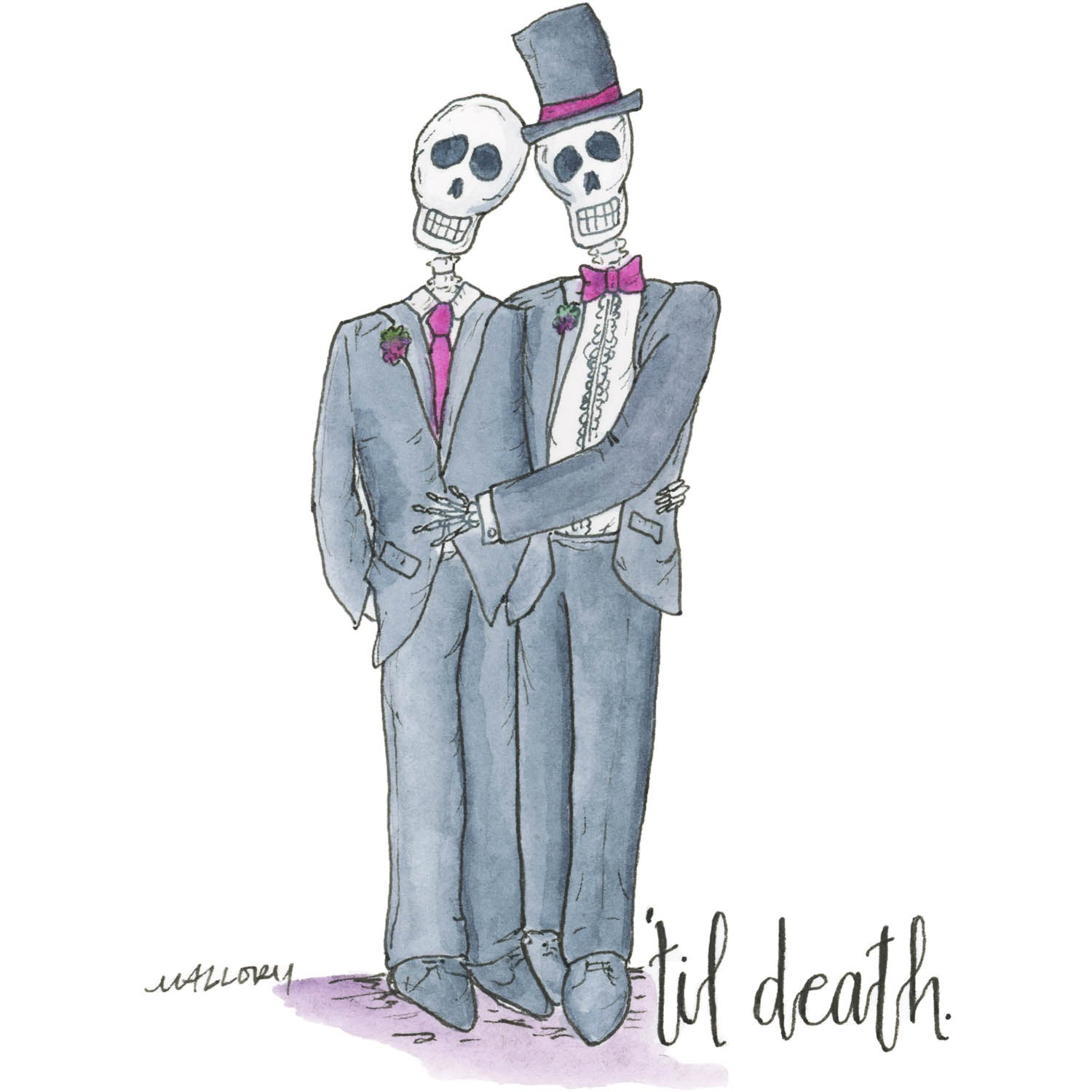 'Til Death Male Couple Wedding Card