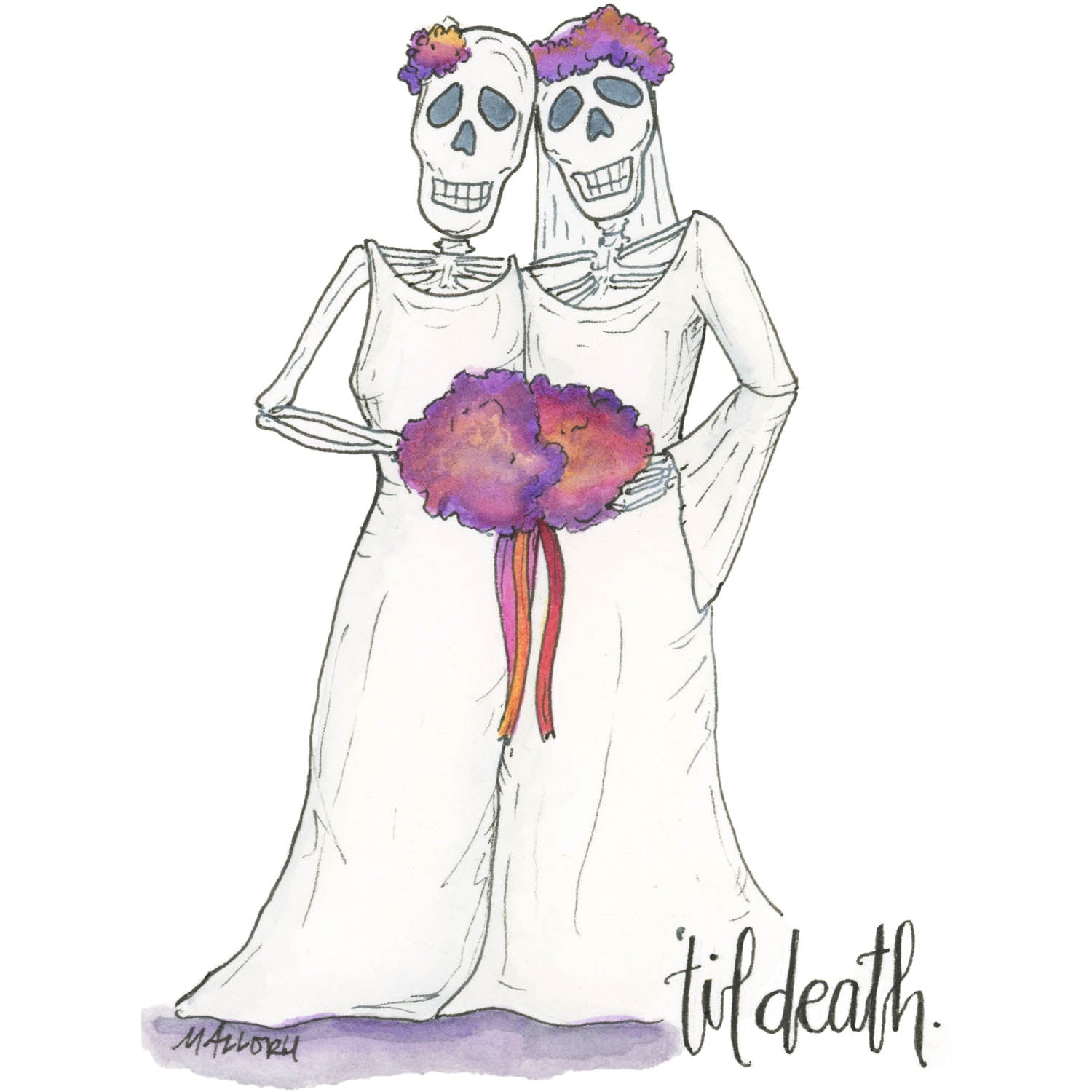 'Til Death Female Couple Wedding Card