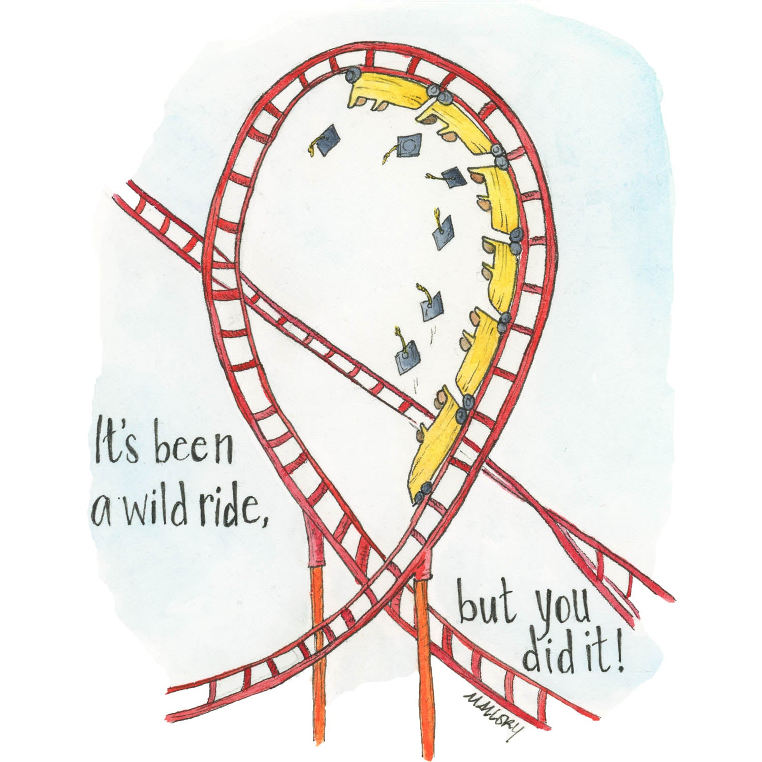 Wild Ride Graduation Card