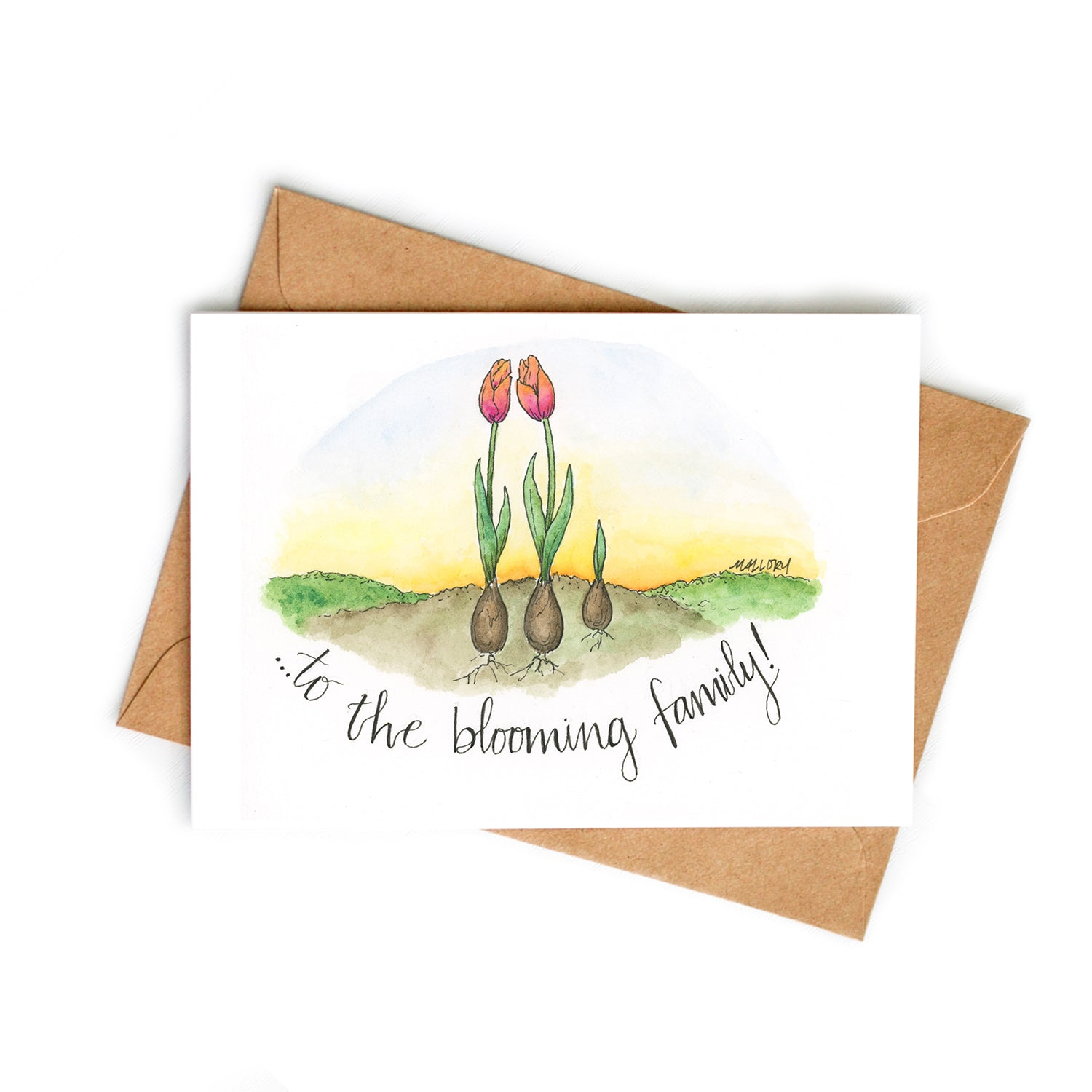 Blooming Family Baby Card