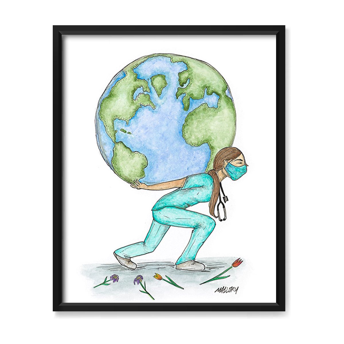 Weight of the World Print