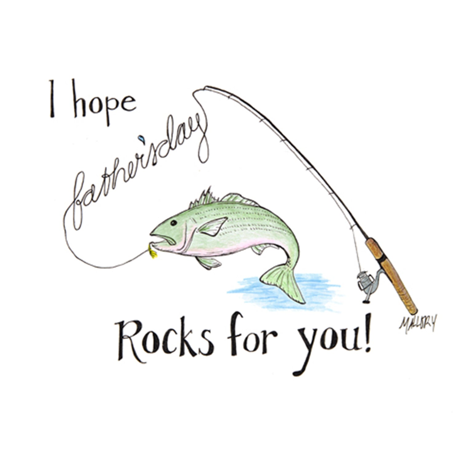 Father's Day card, card for fisherman dad, Father's Day card for fisherman, fishing card
