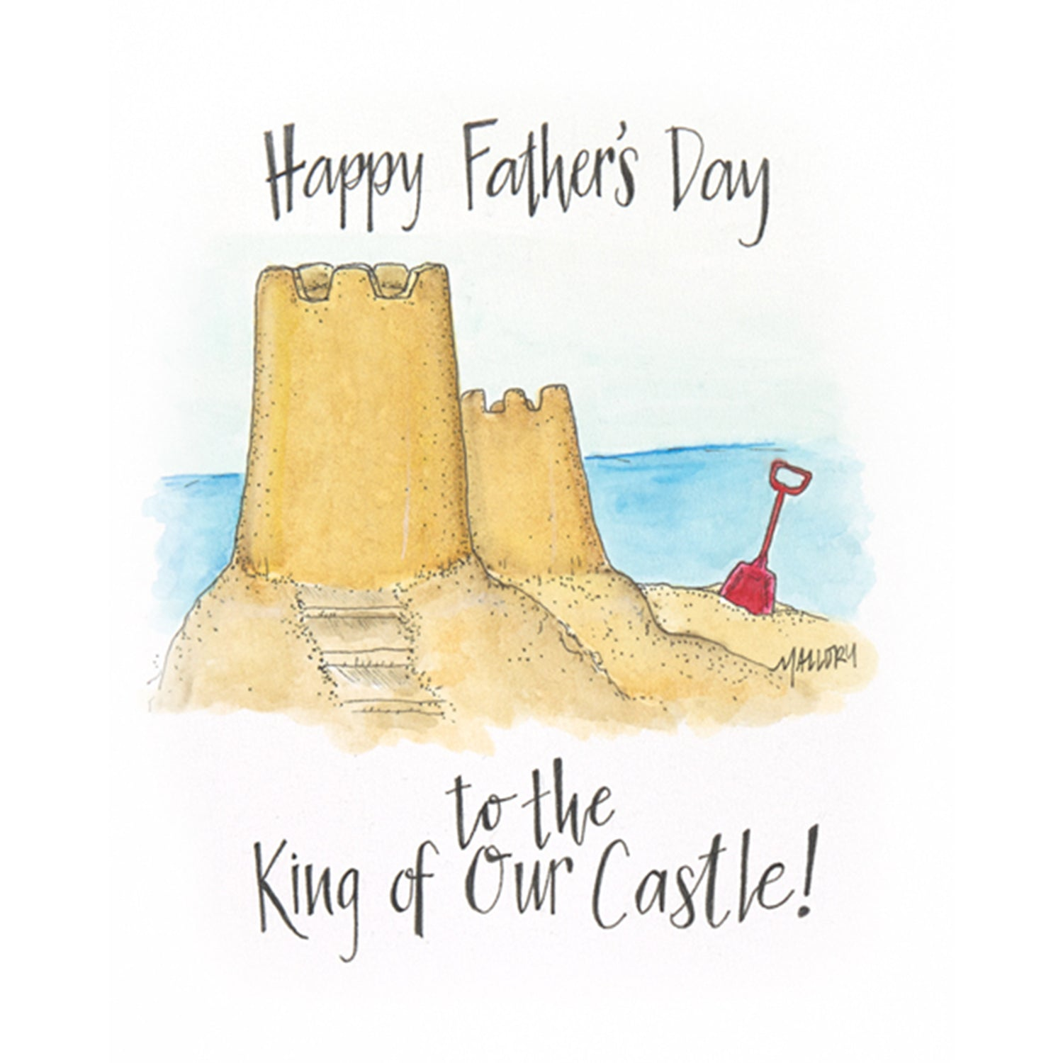 Father's Day card for beach bum, card for beach dad, Father's Day card with sandcastle, sweet card for beach dad