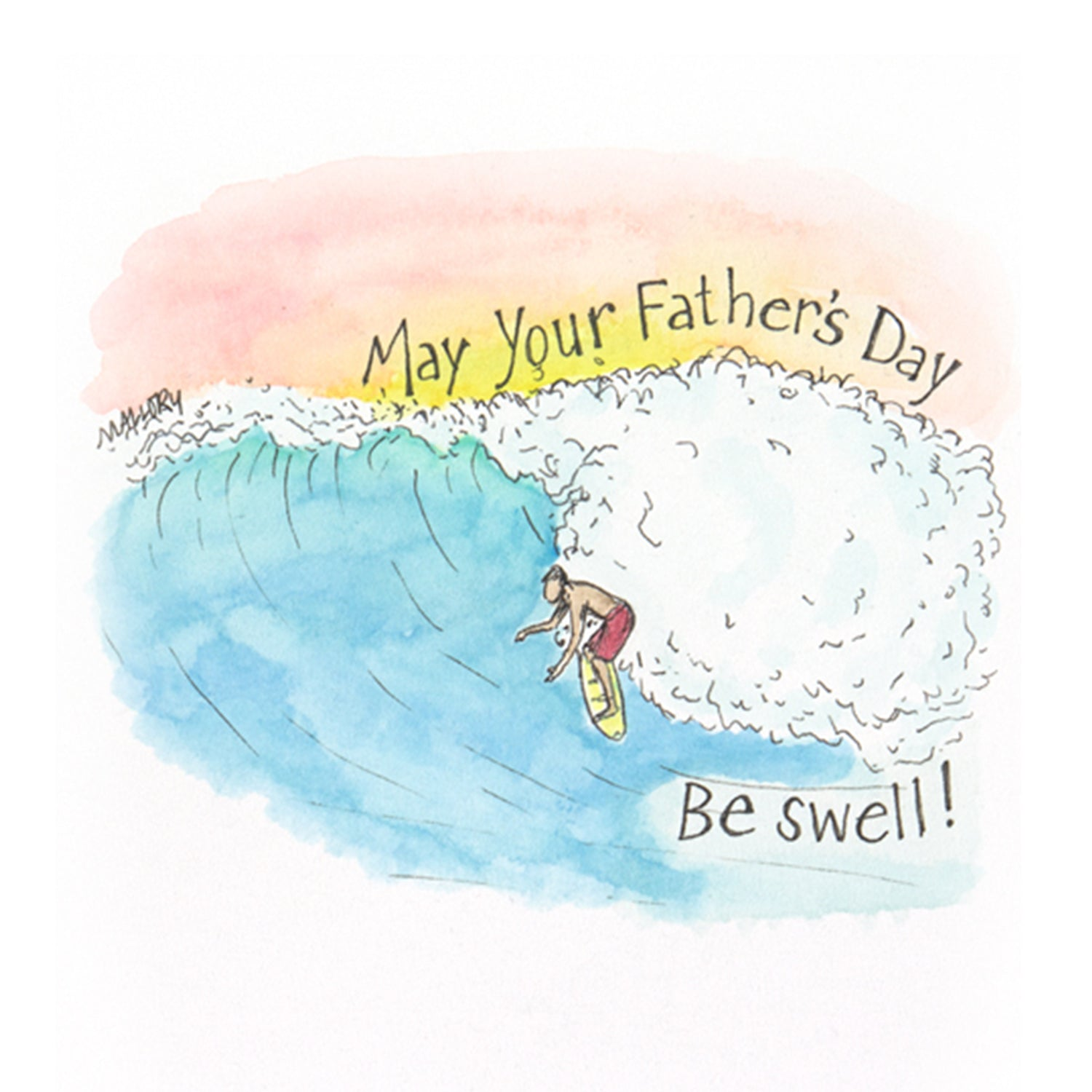 Card for surfer dad, Father's Day card for surfer, card for surf dad, beachy dad card, Father's Day card