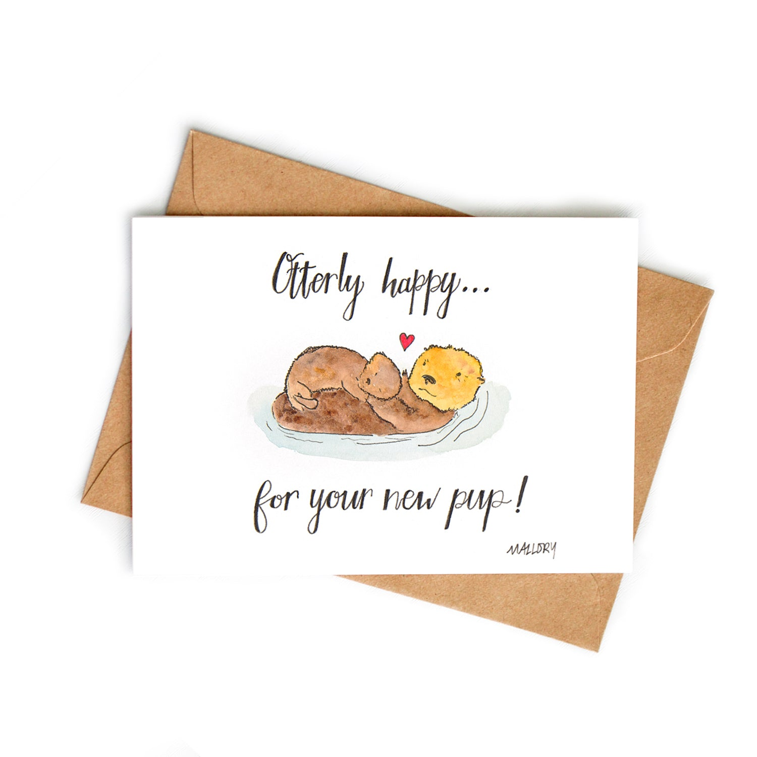 Otterly Happy Baby Card